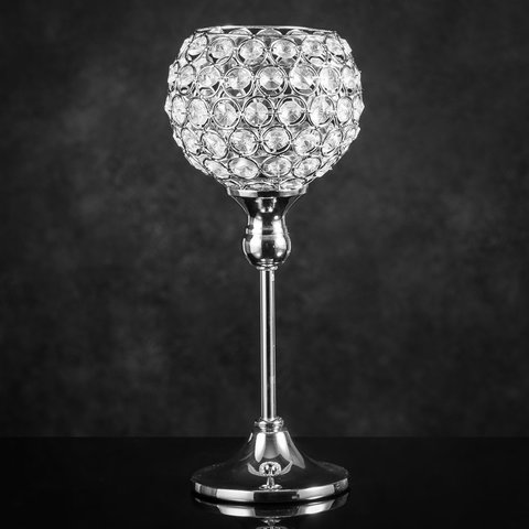 Crystal Pillar Candle Holder