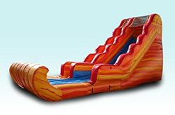 20ft Fire & Ice Slide W/ Wave