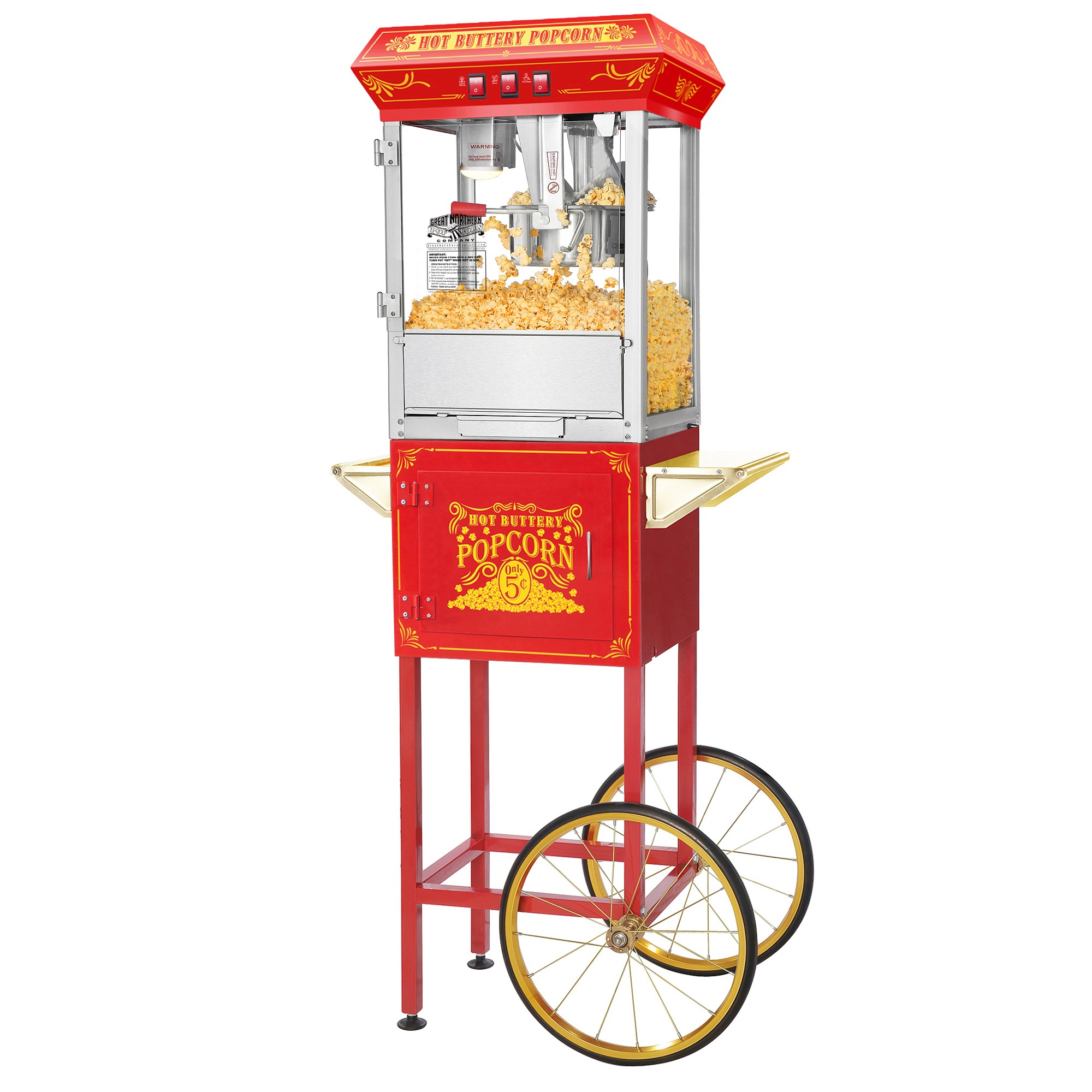 8oz Pop Corn Machine & Stand