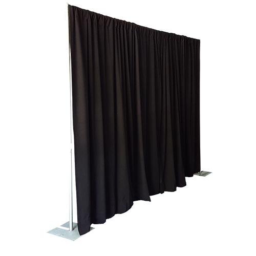Black Pipe & Drape 10FT