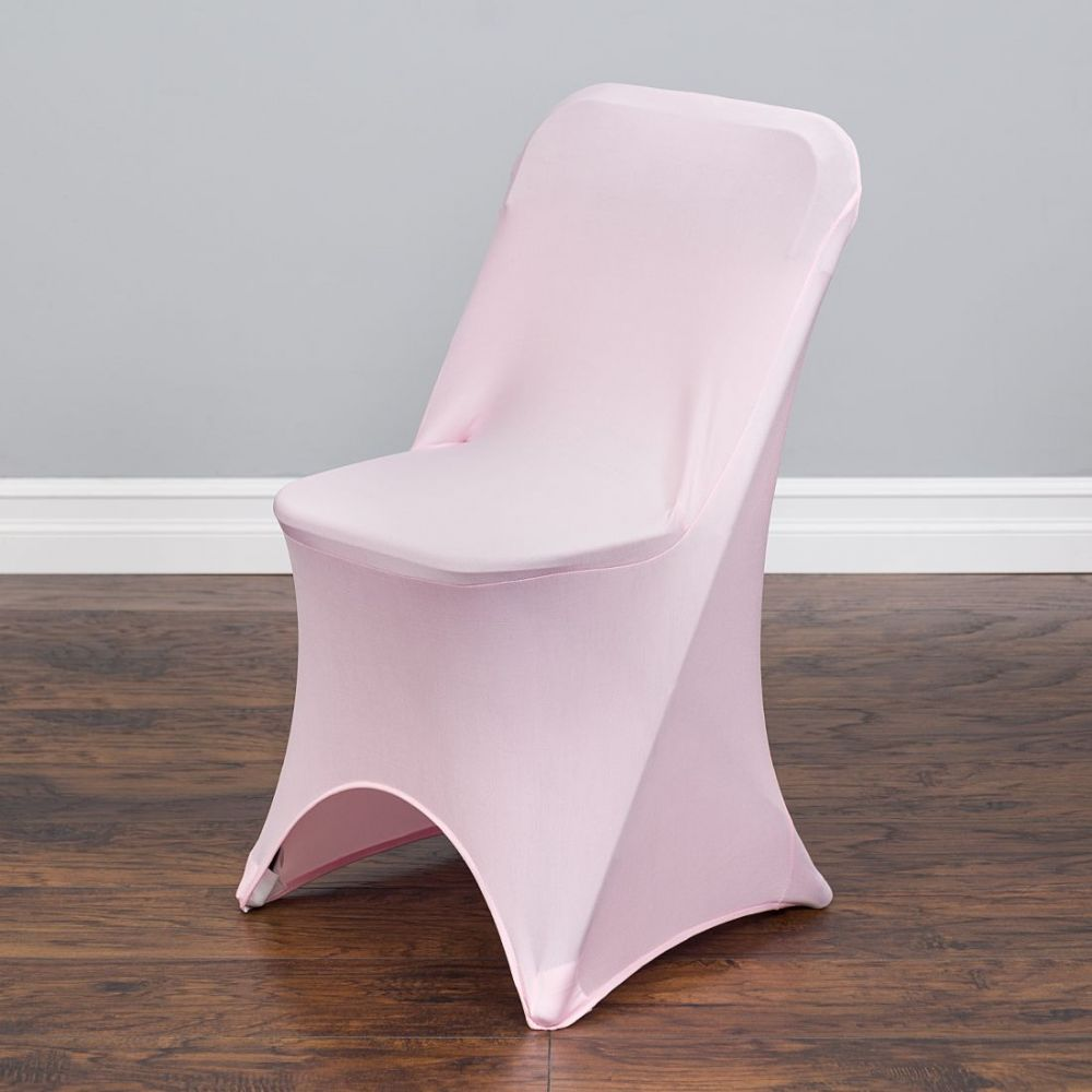 Pink Folding Spandex Chair Cover