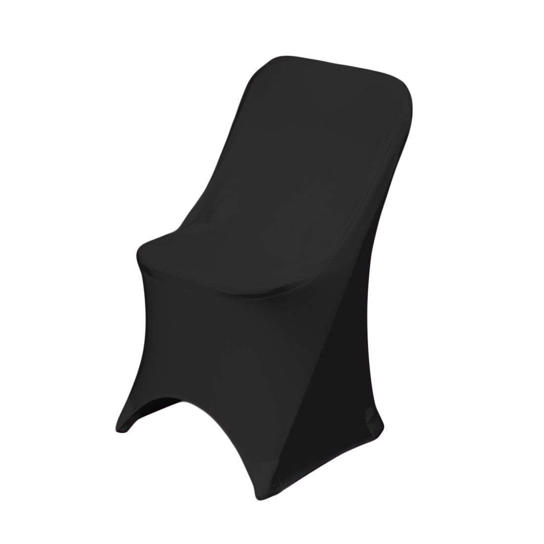 stretch folding chair cover black 1 Orlando Fun Party Rentals