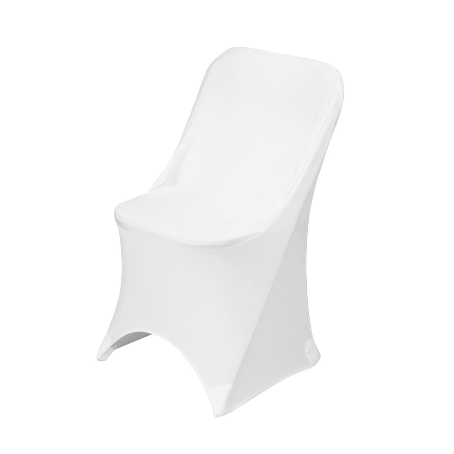 White Folding Spandex Chair Cover