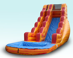 20ft Fire & Ice Slide W/ Pool